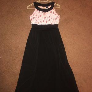 Long Black/ Pink Sparkling Dress